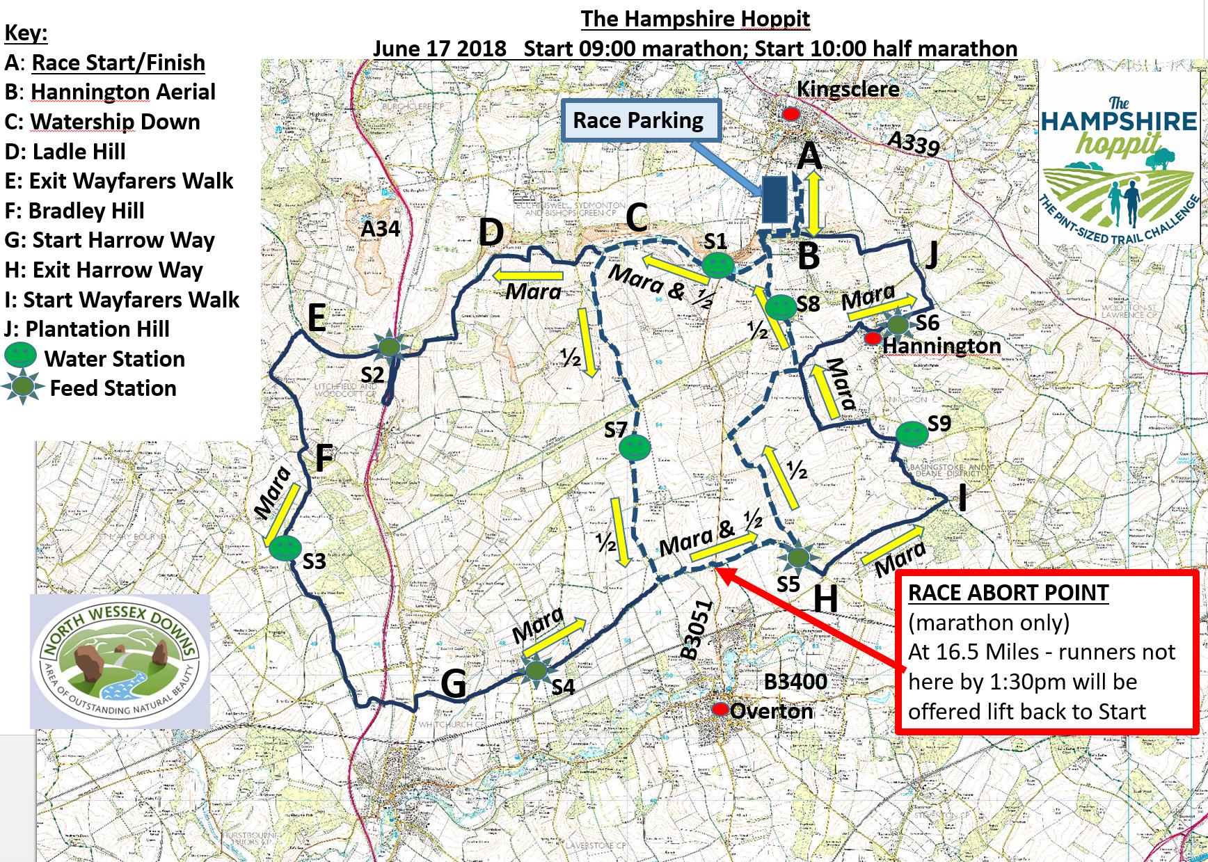 Map Of Uk Hampshire.Route Maps The Hampshire Hoppit